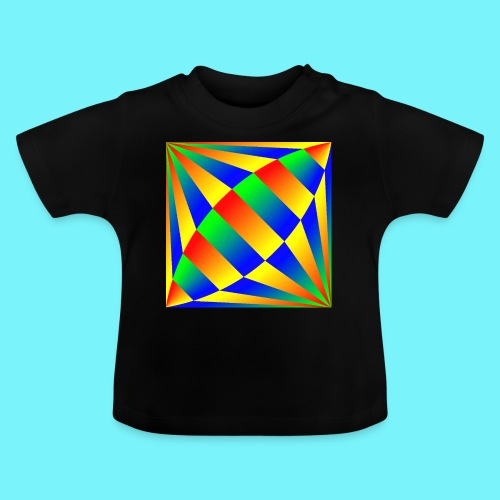 Giant cufflink design in blue, green, red, yellow. - Baby T-Shirt