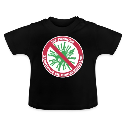 nie panikuje corona-virus - Koszulka niemowlęca