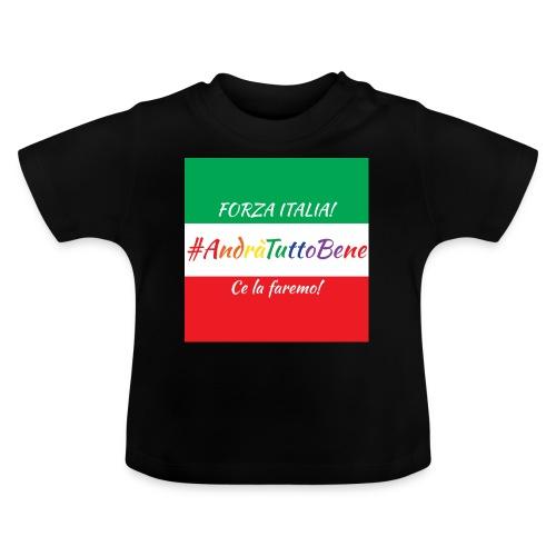 Andrà Tutto Bene su Bandiera Italiana - Maglietta per neonato