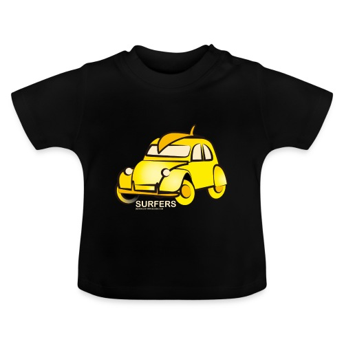 surferyellowcar0101 - Camiseta bebé
