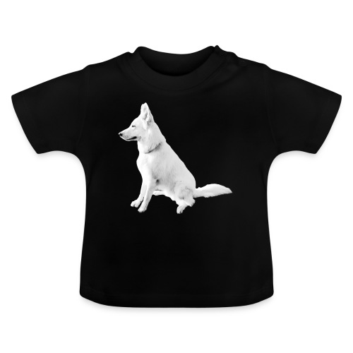 Daron White Dog - Koszulka niemowlęca