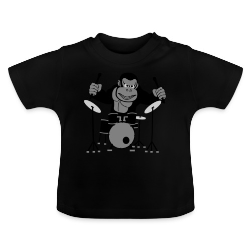 Drumming Gorilla - Baby T-Shirt