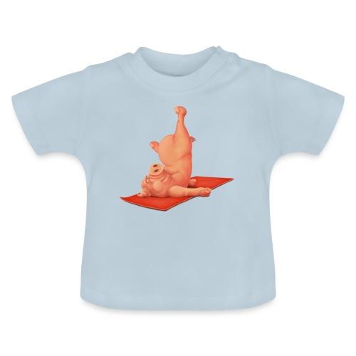 Yoga - Schweindi - Baby T-Shirt