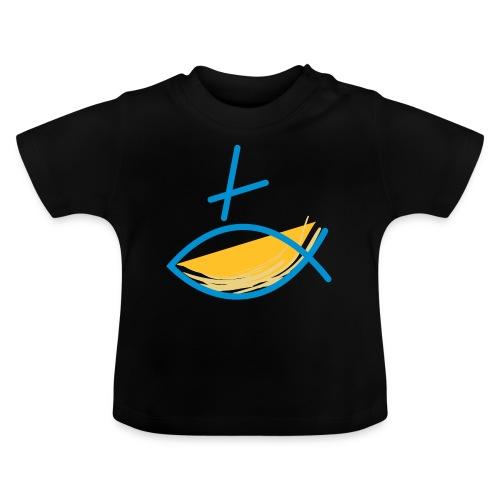 Altkatholischer Logo Fisch Blau/Gelb - Baby T-Shirt