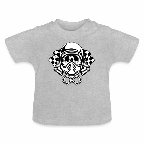Racing Skull Helmet - Baby T-Shirt