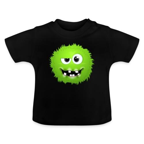 Grünes rundes Monster 13 - Baby T-Shirt