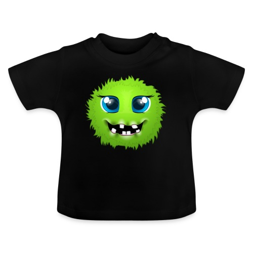 Grünes rundes Monster 18 - Baby T-Shirt