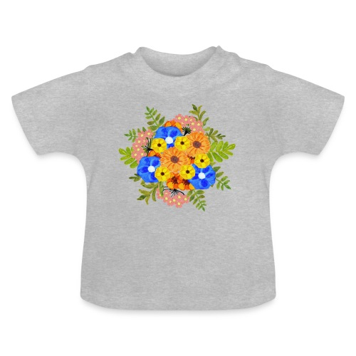Blue Flower Arragement - Baby T-Shirt