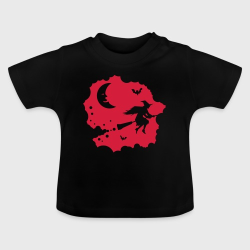 Sorcière sur un balai - T-shirt Bébé