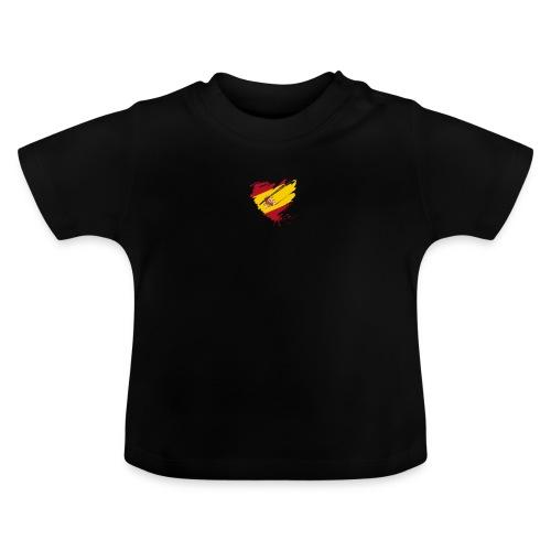 corazon español - Camiseta bebé