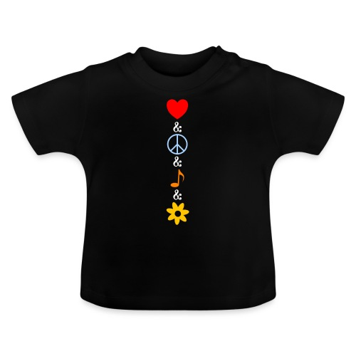 Love Peace Music Flower Hippie Summer - Baby T-Shirt