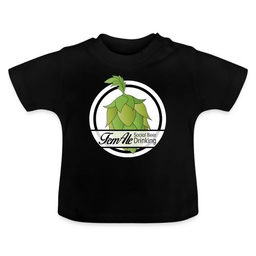 FemAle logo vit 01 png - Baby-T-shirt