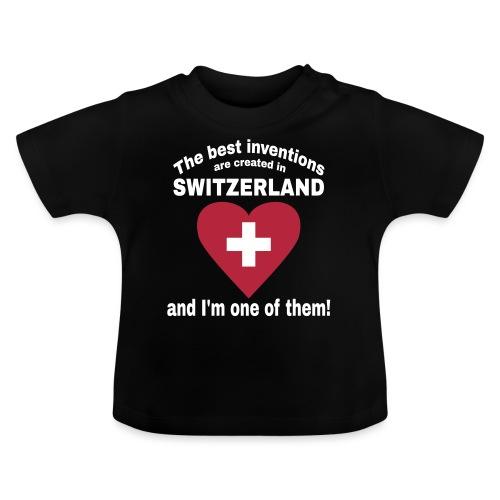 Lustiger Schweiz Spruch für echte Schweizer - Baby T-Shirt