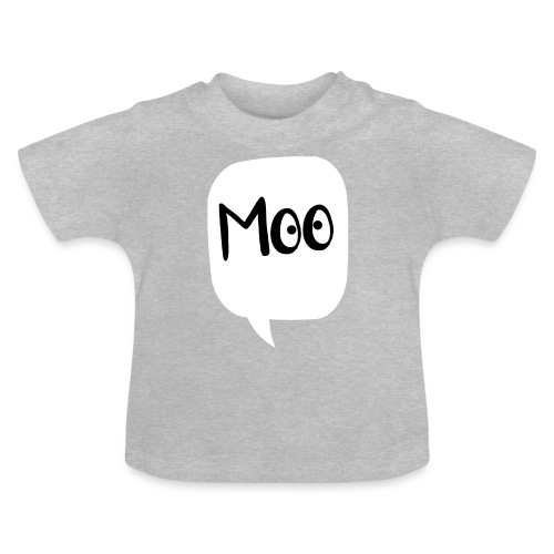 bubble moo black design - Baby T-Shirt