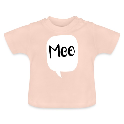 bubble moo black design - Baby T-Shirt