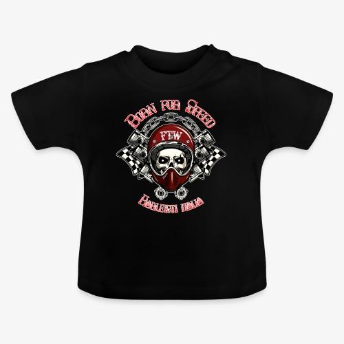 Born for Speed - Teschio casco pistoni - By Mescal - Maglietta per neonato