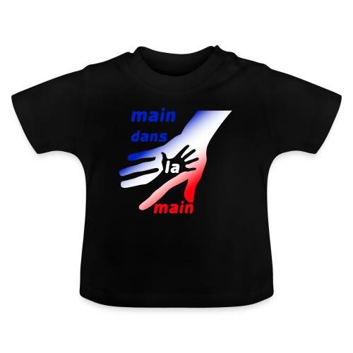 main dans la main bbr - T-shirt Bébé