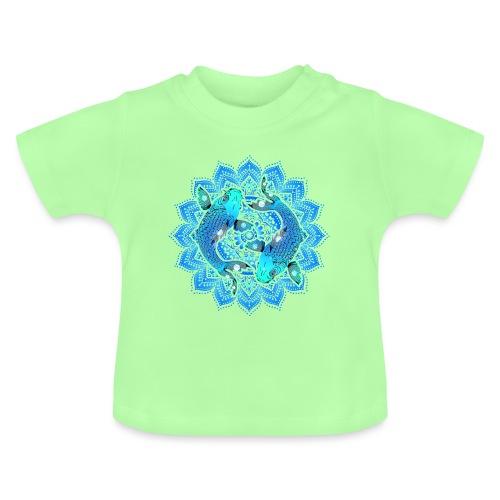 Asian Pond Carp - Koi Fish Mandala 1 - Baby T-Shirt