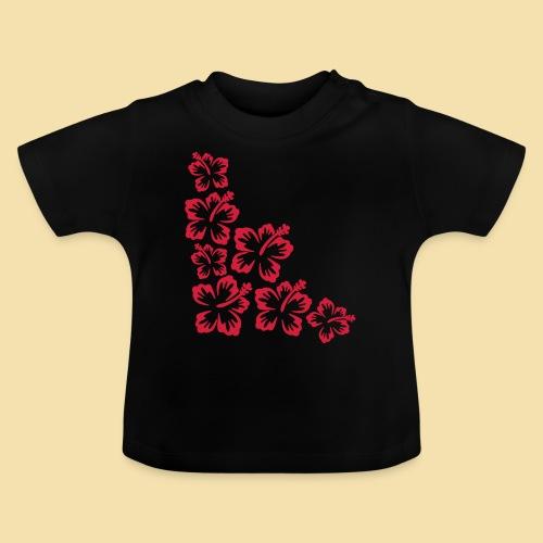 Hibiskus Blueten Ecke - Baby T-Shirt