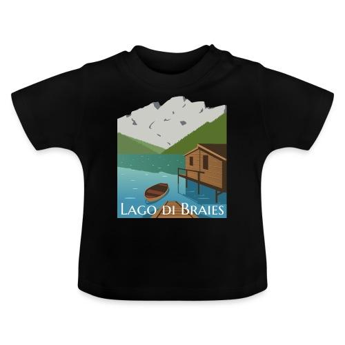 Illustrazione Lago di Braies - Maglietta per neonato