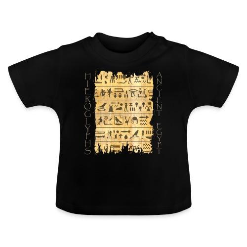 Ausgerissener Papyri mit Hieroglyphen - Baby T-Shirt