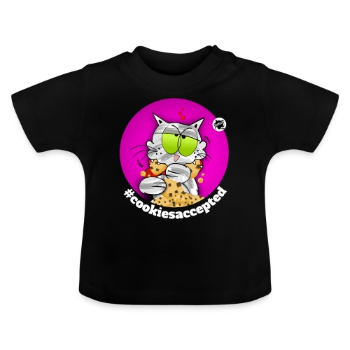 #cookiesaccepted dunkel - Baby T-Shirt