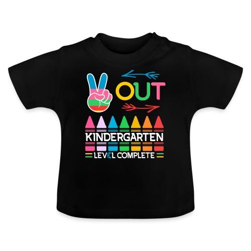 Peace Out Förskolan Färdig Med Denna Nivå Klar - Baby-T-shirt