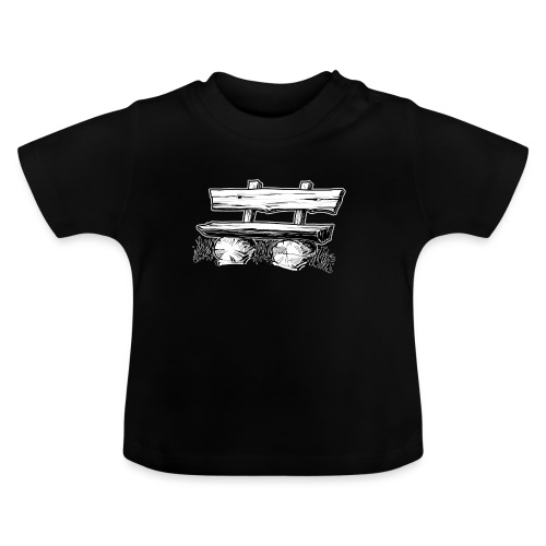 995 Bank hout outline - Baby T-shirt