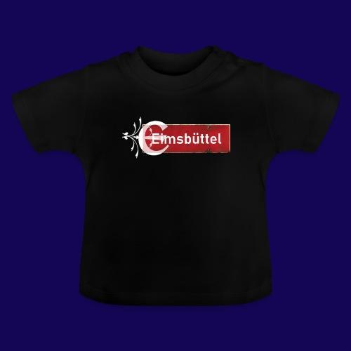 Hamburg- Eimsbüttel: Ortsschild mit Tattoo Initial - Baby T-Shirt