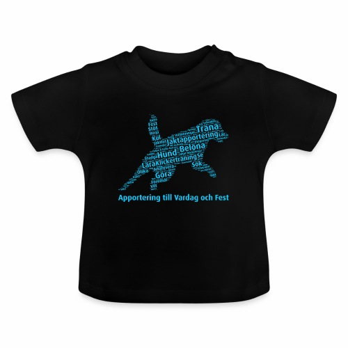 Apportering till vardag och fest wordcloud blått - Baby-T-shirt