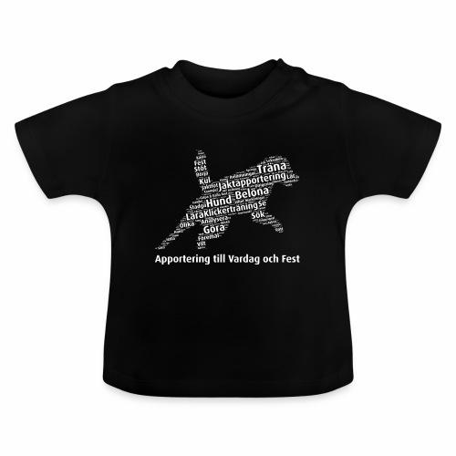 Apportering till vardag och fest wordcloud vitt - Baby-T-shirt