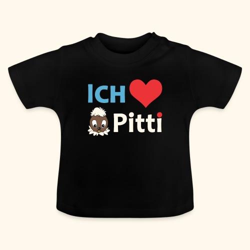 Pittiplatsch Ich liebe Pitti auf dunkel (blau/crem - Baby T-Shirt