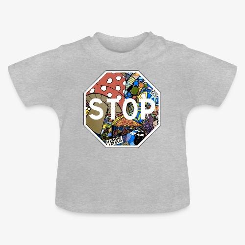 panneau stop pidraw - T-shirt Bébé