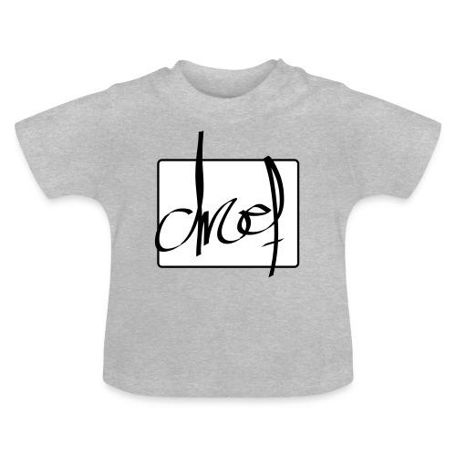 Droef.Gent logo zwart - Baby T-shirt