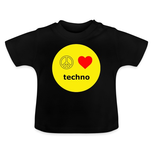 paz amor techno - Camiseta bebé