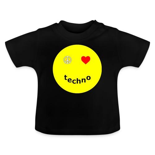camiseta paz amor techno - Camiseta bebé