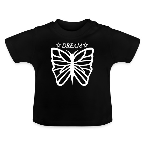 Dream butterfly motiv, black and white. - Baby-T-shirt