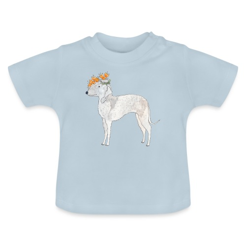 bedlington with flower - Baby T-shirt
