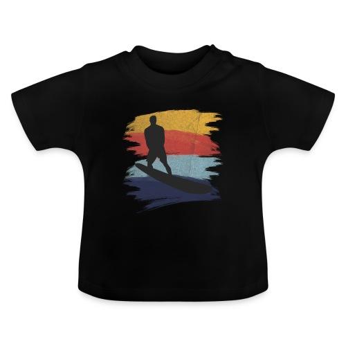 Wellenreiten Retro-Stil, Vintage - Baby T-Shirt