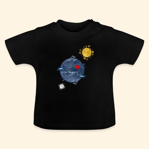 Blue Planet with Sun and Moon - Baby T-shirt