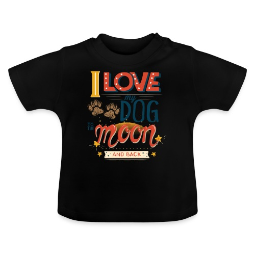 Moon Dog Light - Baby-T-shirt
