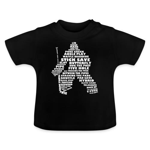 Hockey Goalie Typography Word Art - Baby T-Shirt