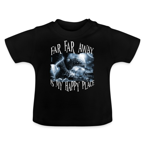 My Happy Place - Black & White - Baby T-shirt