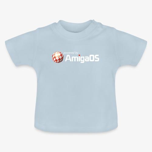 PoweredByAmigaOS white - Baby T-Shirt