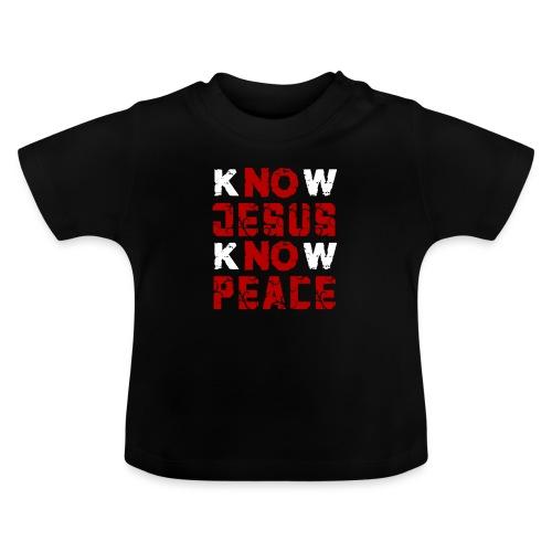 Know Jesus Know Peace (Flower Design) - Baby T-Shirt
