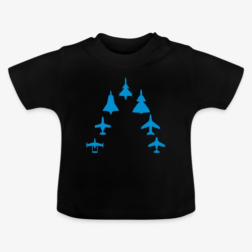 Swedish Air Force - Jet Fighter Generations - Baby-T-shirt