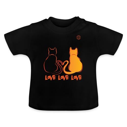 The Red Twins LOVE LOVE LOVE - Maglietta per neonato