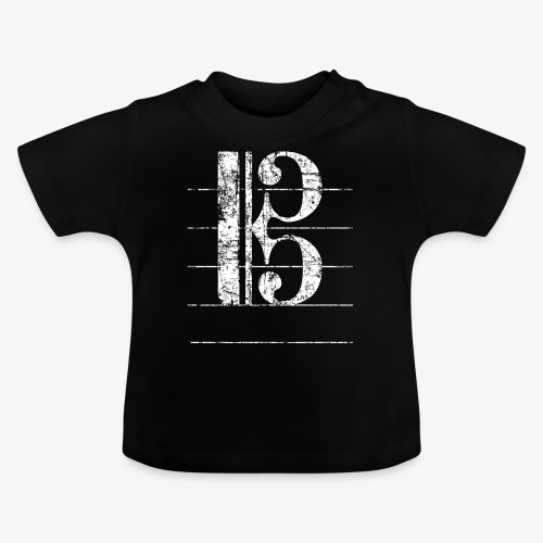 Tenorschlüssel - Notenschlüssel Cello / Posaune - Baby T-Shirt