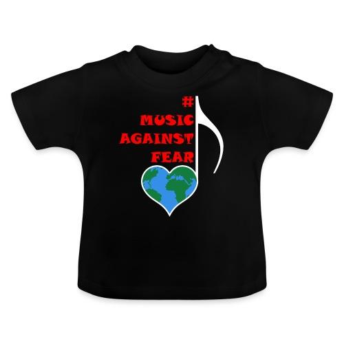 #MusicAgainstFear - Weiß - Baby T-Shirt