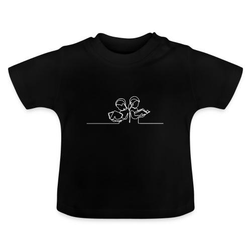 Læsende børn Hvid - Baby T-shirt